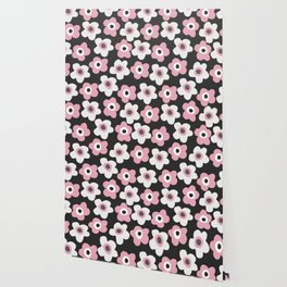 White and pink flowers Wallpaper
