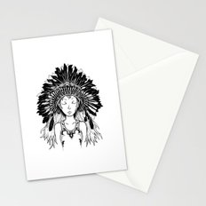 Native American Girl Stationery Cards