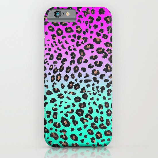 TEAL & PINK LEOPARD  iPhone & iPod Case