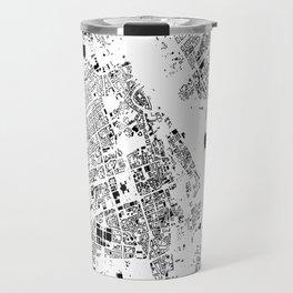 Warszawa Map Schwarzplan Only Buildings Travel Mug