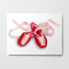 Red Toe Shoes Metal Print