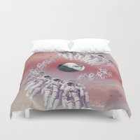 suits Duvet Covers featuring America Space Suits You by Future Illustrations- Artwork by Julie C