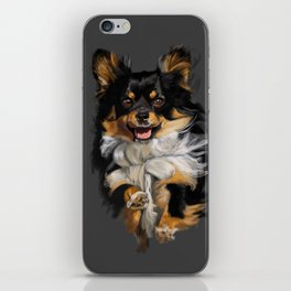 Long Hair Chihuahua On the Run iPhone Skin