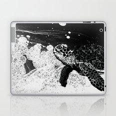 Sea Foam Sea Turtle (B/W) Laptop & iPad Skin