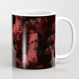 Abstract red material emerging design close up macro intricate pattern textured background Coffee Mug