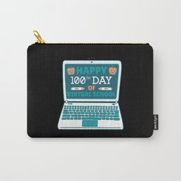 Happy 100th Day of Virtual School Student Teacher Carry-All Pouch