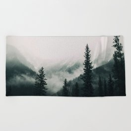 Over the Mountains and trough the Woods -  Forest Nature Photography Beach Towel