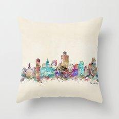 salt lake city skyline Throw Pillow