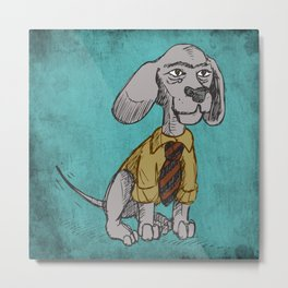 Dapper Bubba Metal Print