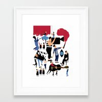 it crowd Framed Art Prints featuring CROWD by Michela Buttignol