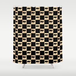 COW CHECK Shower Curtain