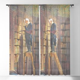 12,000pixel-500dpi - The Bookworm - Carl Spitzweg Sheer Curtain