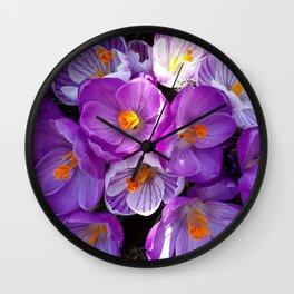 flowering crocuses Wall Clock