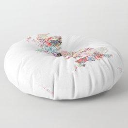 United Kingdom map Floor Pillow