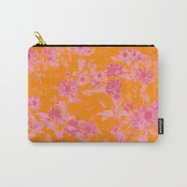 Floral trio tone photograph with orange and pinks Carry-All Pouch