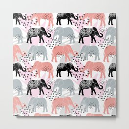 Elephants. Metal Print