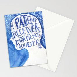 Be a Patient Receiver Stationery Cards