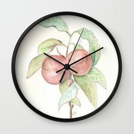 Prunus Persica (Peach) Wall Clock
