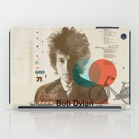 dylan iPad Cases featuring Bob Dylan by Azlif