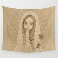 santa Wall Tapestries featuring Santa by Juliana Fusco