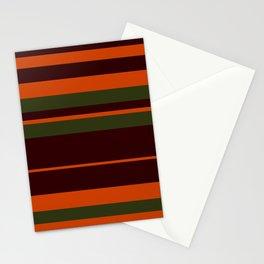 Pattern Bandes Colors Marron/Orange Stationery Cards