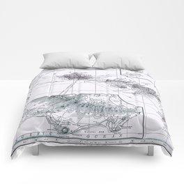 Vintage Hawaii Map 1899 Comforters