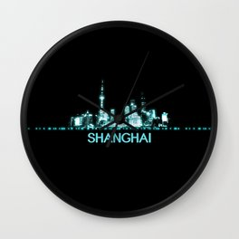 Shanghai Skyline Wall Clock