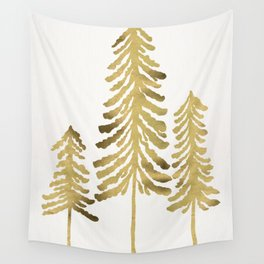 Pine Trees – Gold Palette Wall Tapestry