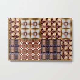 Warm Square Designs Metal Print
