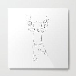 walking baby Metal Print