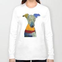 greyhound Long Sleeve T-shirts featuring kacy (greyhound  by bri.buckley