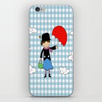 mary poppins iPhone & iPod Skins featuring Mary Poppins by EnelBosqueEncantado