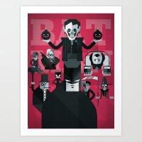 dark man fan art Art Print