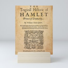 Shakespeare, Hamlet 1603 Mini Art Print