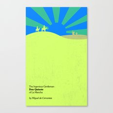 The Ingenious Gentleman Don Quixote of La Mancha  by Miguel de Cervantes Book Cover Redesign Canvas Print