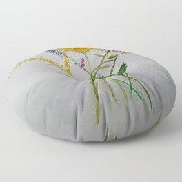 SERIES JASMIN WATERCOLOR FLOWERS Floor Pillow