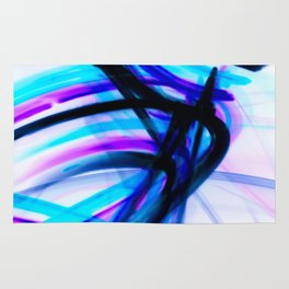 Attitude Abstract Digital Line Painting Rug