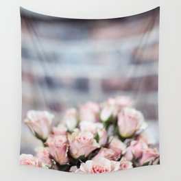 ROSES - PINK - PHOTOGRAPHY - FLOWERS Wall Tapestry