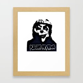 LOGO SHIRT KILLER REVIEWS Framed Art Print