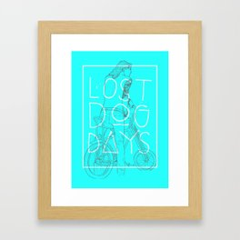 LOST DOG DAYS Framed Art Print