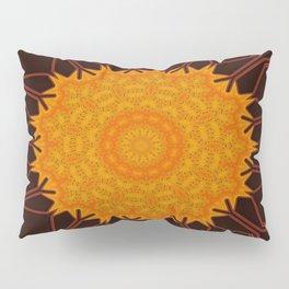 New Media Art Marigold on Mocha Kaleidoscope  Pillow Sham
