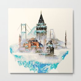 Istanbul landscape Metal Print