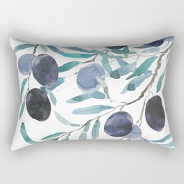black olive watercolor 2018 Rectangular Pillow