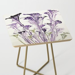 Lilac flower Side Table
