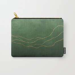 Ombre Pine & Gold Carry-All Pouch