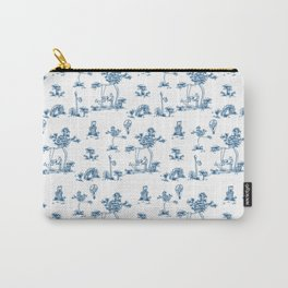 Blue Toile Unicorn Carry-All Pouch