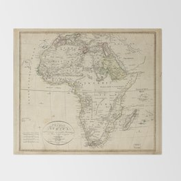 Map of Africa (1804) Throw Blanket
