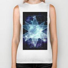 Galaxy Sacred Geometry : Stellated Icoshadron Blue Biker Tank