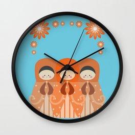 Matrioshkas Friendship Wall Clock