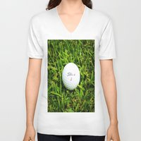 golf V-neck T-shirts featuring GOLF by Cooper Designs